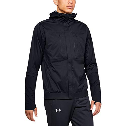 Under Armour Men's Perpetual Storm Run Jacket, Black, ()
