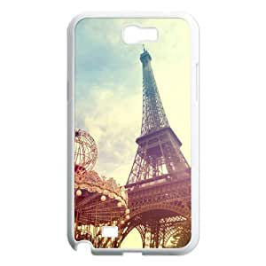 DIY Printed Eiffel Tower hard plastic case skin cover For Samsung Galaxy Note 2 N7100 SN9V892483