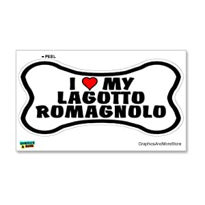 Graphics and More Lagotto Romagnolo Love My Dog Bone - Window Bumper Locker Sticker 5