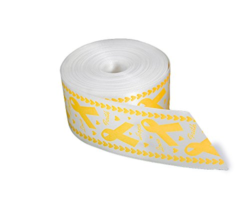 - Satin Gold Awareness Ribbon by The Yard for Childhood Cancer Awareness (10 Yards)