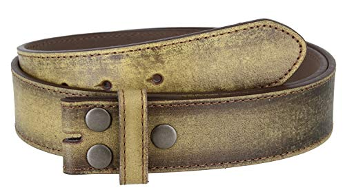 Classic Vintage Distressed Casual Jean Leather Belt Strap (XXL(43