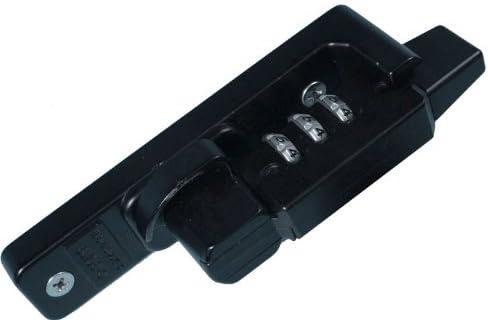 万能型交換用ダイヤル式クレセント錠「あかないんです」ブラック/大カマ