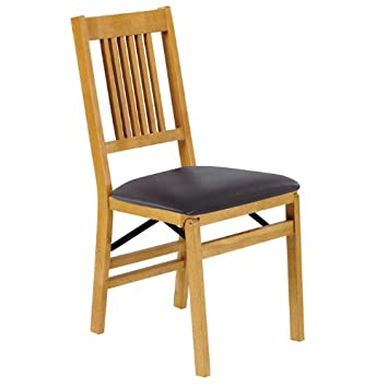 Amazoncom Mission Folding Chair Set of 2 Oak 355H x 165