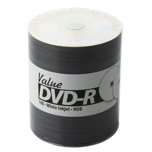 600 JVC Taiyo Yuden Value Line 16x DVD-R White Inkjet Hub Printable