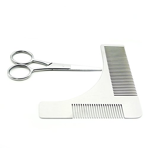 Beard Trimming Comb Scissors Kits Beard Sharper Styling Trimming Grooming - And Styled Beards Mustaches
