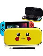 Haobuy Etui pour Nintendo Switch, Pochette Protection Désigné pour Switch Pokémon Lets' go Pikachu/Eevee Pouch, Sacoche Housse Protable Transport pour Pokémon Nintendo Switch Accessoire- Pikachu
