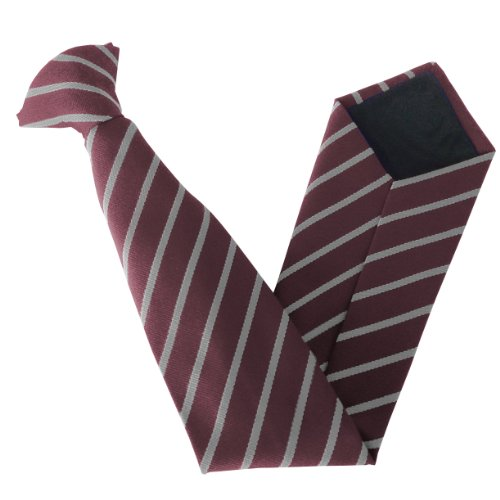 Variations On Clip Colour amp; Size Ties Single School White Maroon amp; Stripe 8dgqZd