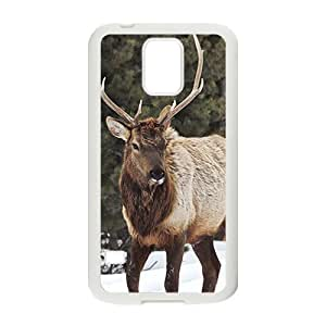 The Deer And Snow Hight Quality Plastic Case for Samsung Galaxy S5
