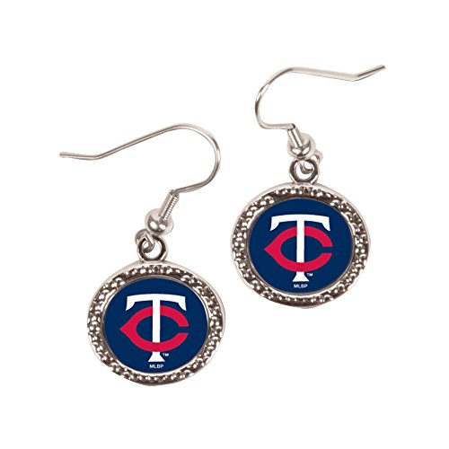 Mlb Round Earrings - WinCraft MLB Minnesota Twins Round Earrings, Large, Multi