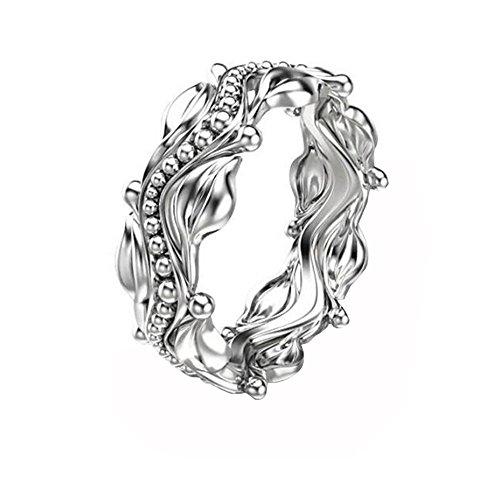 Diamonds Loose Platinum - MILIMIEYIK Crystal Rings for Women Plating Platinum Ring Women's Wedding Proposal Birthday Gifts Diamond Band Bands