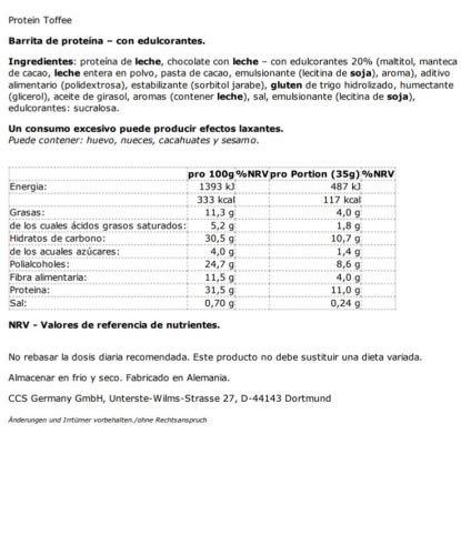 Nutrixxion PROTEINA Barritas (bajo en azúcar) Set 15 x 35g ...
