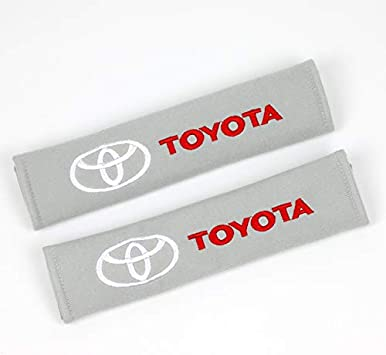 Automelody 2pcs A pack Seat Belt Cover Shoulder Protective Cushion Pads For Toyota//Scion Color1
