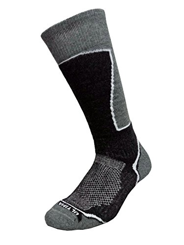 Ultimate Socks Mens Midweight Merino Wool Ski Snowboard Warm Socks Charcoal Large 9-11.5