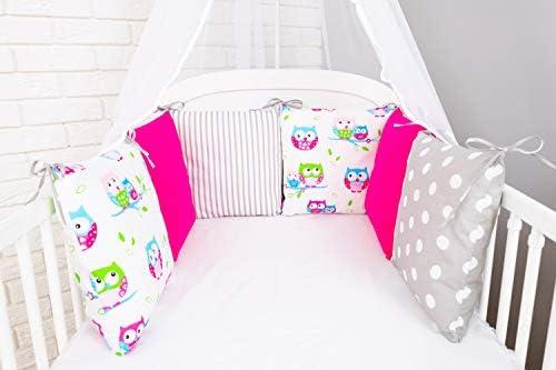 Prot/ège la t/ête et les bords/ Tour de lit de b/éb/é Design8 de Amilian/® 210/cm