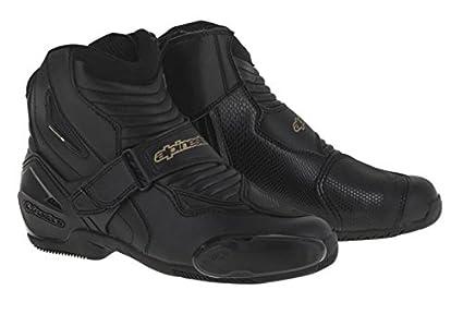 d8466d254751f Alpinestars Women's Stella SMX-1 R Boots (36) (BLACK/GOLD)