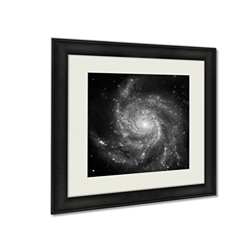 Ashley Framed Prints Pinwheel Galaxy Spiral Galaxy In The Constellation Ursa Major, Wall Art Home Decor, Black/White, 22x22 (frame size), AG5823559 by Ashley Framed Prints