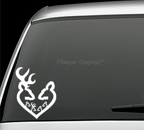 deer family window decal - 2
