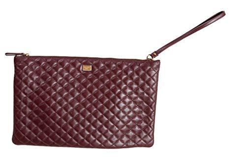 Dolce & Gabbana 100% Leather Brown Women's Clutch Bag