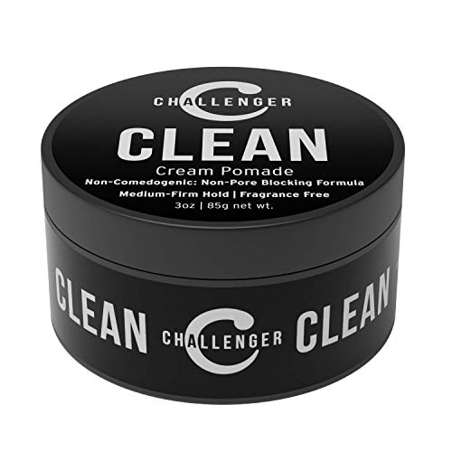 Challenger Men's Clean Cream Pomade, 3 Ounce