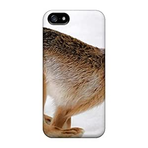 Cute Tpu No.5 Case Bunny In Snow Case Cover For Iphone 5/5s by runtopwell