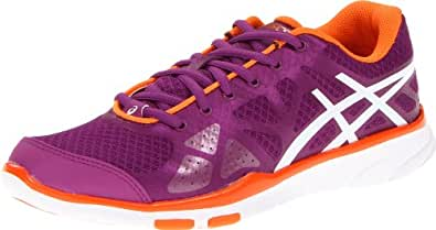 ASICS Women's Gel-Harmony TR Running Shoe,Plum/White/Orange,9.5 M US