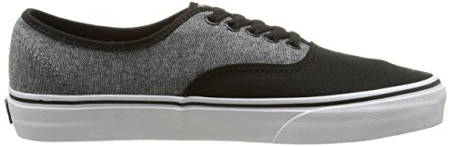 Vans U Authentic - Zapatillas bajas unisex Negro - blanco y gris peltre