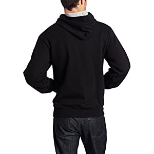 Champion Men's Pullover Eco Fleece Hoodie, Black, Large
