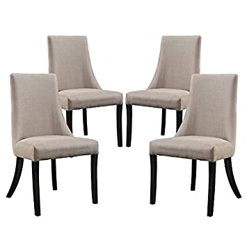 Modway Reverie Dining Side Chair Set of 4 in Gray