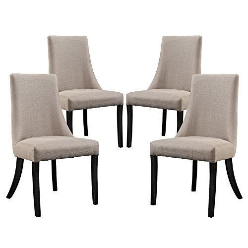 Modway EEI-1677-BEI Reverie Dining Side Chair (Set of 4), Beige