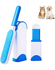 AlfaView Pet Hair Remover Brush, Double Sided Reusable Fur/Lint Remover Roller Brush with Self-Cleaning Case, for Dogs,Cats,Clothes & Furniture