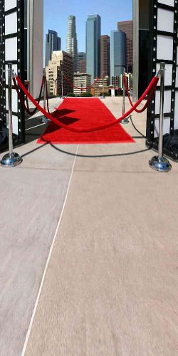 GladsBuy Red Carpet To The City 10' x 20' Computer Printed Photography Backdrop Stage Carpet Theme Background ZJZ-121]()