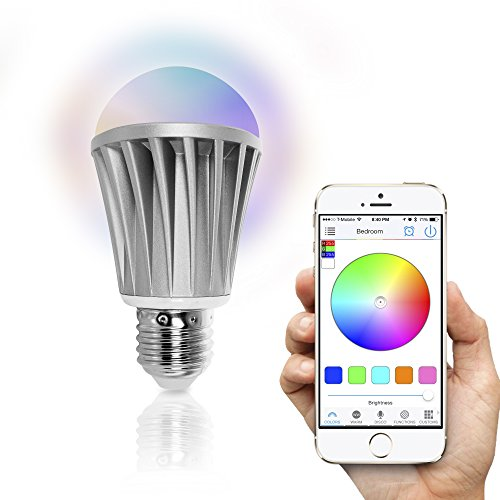 Flux Bluetooth LED Smart Bulb – Wireless Multi Color Changing Light For Kitchen, Bedroom- App Controlled Sunrise Wake Up Light – Sunset Sleeping Light – Dimmable Colorful Night Light – No Hub Required