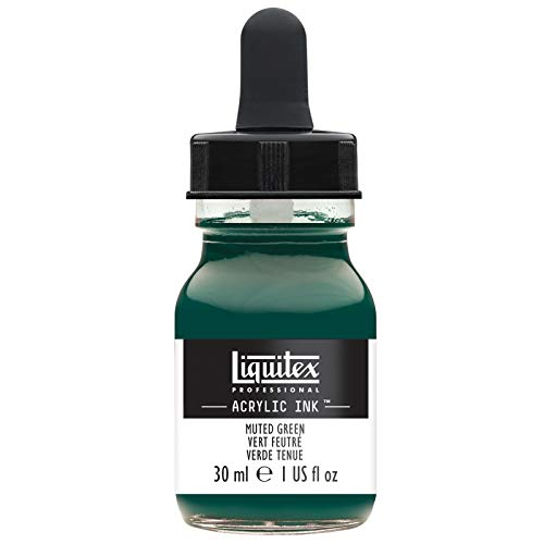 Liquitex Special Release Collection Professional Acrylic Ink! 1-oz Jar - Muted Green, 1 oz,
