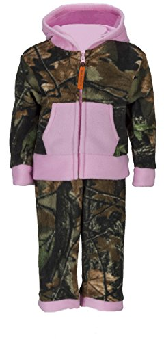 Review Trail Crest Toddler Camo Two Piece Fleece Jacket & Pants Set, 5T, Pink