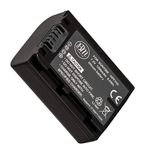 BM Premium NP-FV50 Battery For Sony FDR-AX53, HDR-CX675/B, HDR-CX455/B, HDR-CX220, CX230, CX290, CX330, CX380, CX430V, CX900, PJ200, PJ230, PJ340, PJ380, PJ430V, PJ540, PJ650V, PV790V, PJ810, HDR-TD30