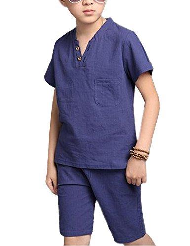 Unie PU Femme Bleu Cuir ROFLL008340 à Boucle Sandales Odomolor Couleur Haut Talon 8R5qw4HS4