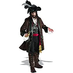 Rubie's Grand Heritage Collection Deluxe Caribbean Pirate Costume, Brown, Standard