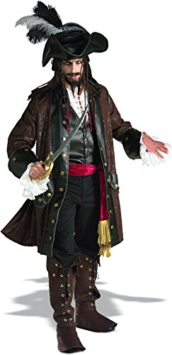 In Character Halloween Costumes (Rubie's Costume Grand Heritage Collection Deluxe Caribbean Pirate Costume, Brown, Standard)