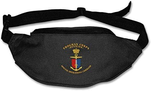 デンマークフロッグマン隊特殊部隊コマンドユニセックスアウトドアファニーパックバッグベルトバッグスポーツウエストパック