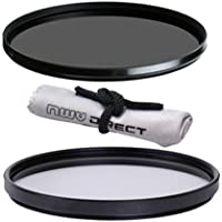 Vivitar High Grade 58mm UV (Skylight 1A) Filter, Vivitar High Grade 58mm Circular Polarizing Filter, & Nwv Direct Microfiber Cleaning Cloth. (Alternative For Tiffen Part# 58PTP)