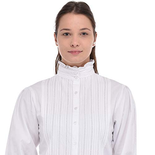 Blusa Cotton Victoriana Lane Cotton Lane Blanca Blusa Blanca Victoriana tYqTxwUgx