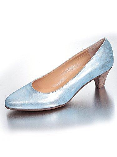 Fidji Damen G435 Glattleder Klassischer Pumps Hellblau