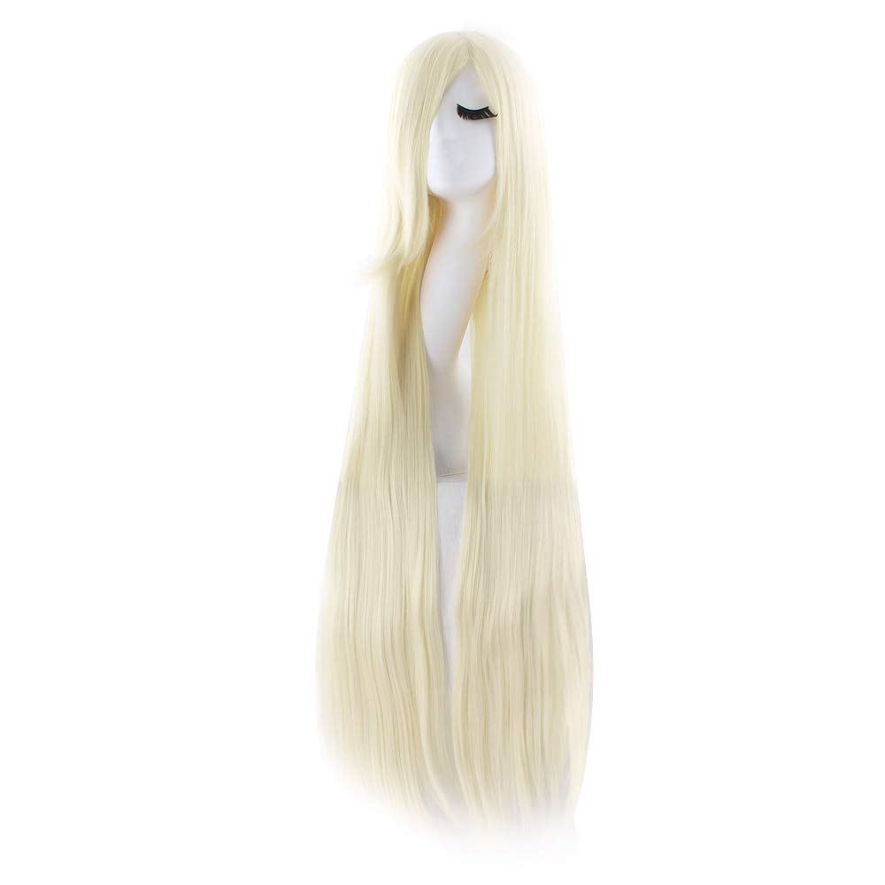 MapofBeauty 32 80cm Long Straight Anime Costume Cosplay Wig Party Wig White