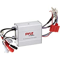 Pyle Compact Marine Amplifier Kit - Waterproof Rated 4-Channel Audio Amp | AUX/RCA/MP3 Input | Speaker Wiring | Volume Control | 1200 Watt MAX (PLMRMP4A)