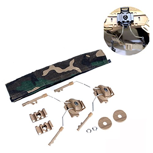 Elements Helmet (Element Airsoft Z046 Z-TAC Tactical Nylon Plastic Helmet Rail Adapter Set For COMTAC I AND COMTAC II (Tan))