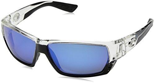 Costa Del Mar Tuna Alley Sunglasses, Crystal, Blue Mirror 400 Glass Lens ()