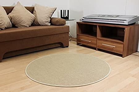 Round And Ronja Outdoor Rug Cream Beige Sisal Look Beige 200cm