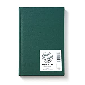 HOUSE Hardcover Journal; American Made, 30% Recycled, Ruled, 5.5 x 8.5, 136 Pages (Forest Green)