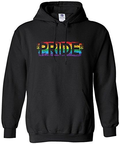 Threadrock Men's Gay Pride Hoodie Sweatshirt M Black