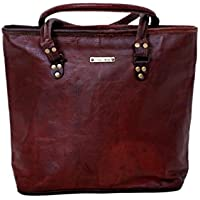 Handmade Genuine Leather Woman Tote Bag Large Ladies Carry All Bag